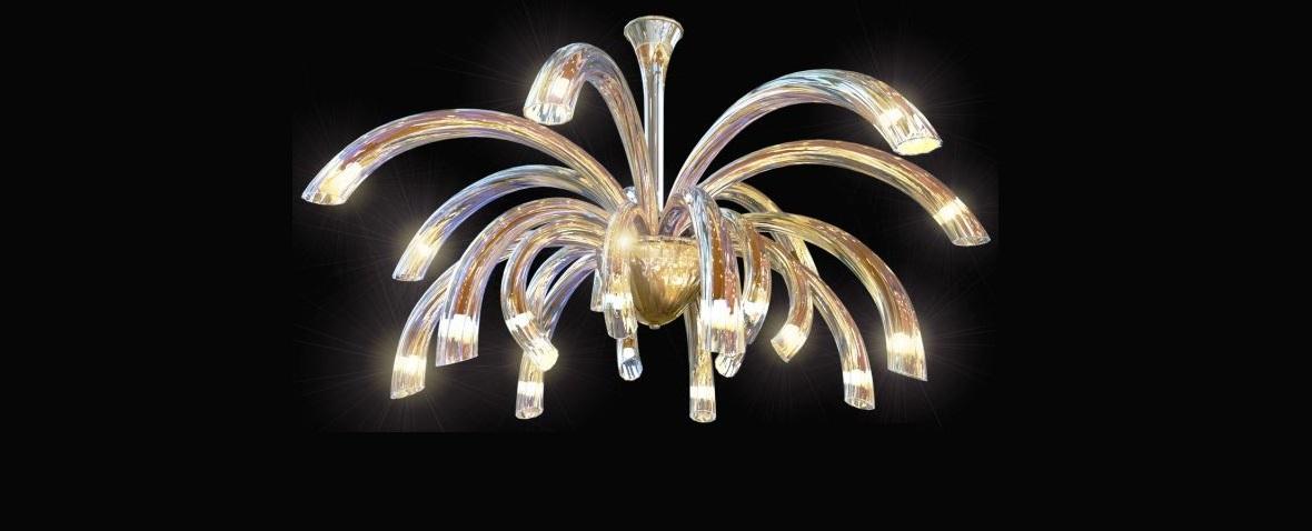 SKlenené lustre Sylcom do interiéru