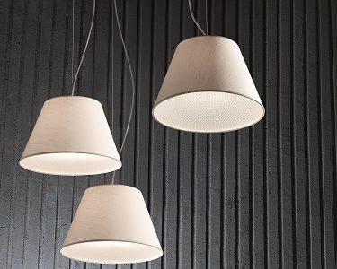 Lampshades, závesné svietidlo s látkovým tienidlom